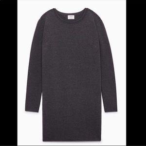 Aritzia Wilfred Campanule dark grey sweater dress